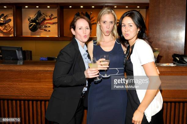 Andrea London Hillary Collins and Kelly McManus attend PAUL STUART and WALL STREET JOURNAL host FASHION'S NIGHT OUT at 45th st and Madison Ave on...