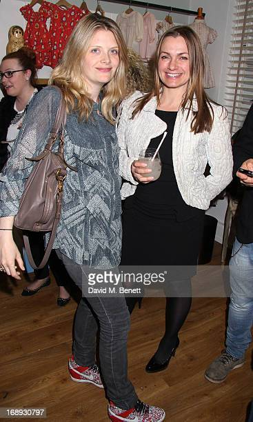 Andrea Lowe and Simone Lahbib attends the celebration tea party for 'Their Nibs' 10th anniversary at their London showroom on May 16 2013 in London...
