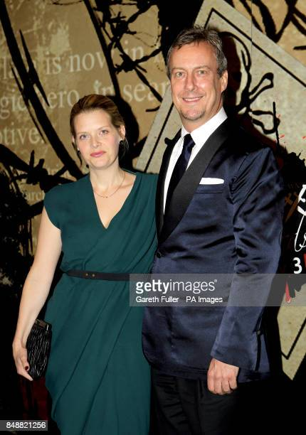 Andrea Lowe and Stephen Tomkinson arrive for the Specsavers Crime Thriller Awards at the Grosvenor House Hotel London