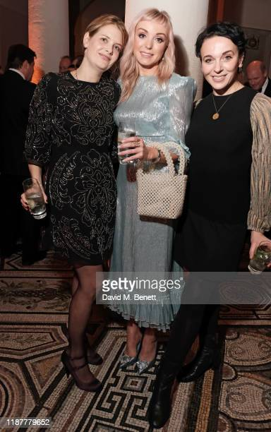Andrea Lowe Helen George and Amanda Abbington attend the Cancer Research UK St Paul's Carol Concert at St Paul's Cathedral on December 10 2019 in...