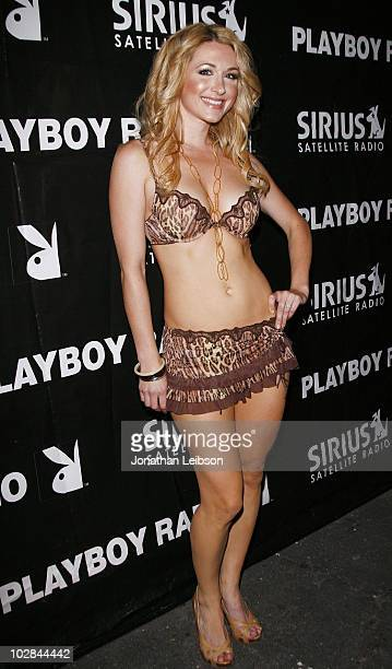 Andrea Lowell attends the Jessica Hall And Brandie Moses Host BJ PJ Playboy Radio Party at Bar 210 at The Beverly Hilton hotel on July 10 2010 in...