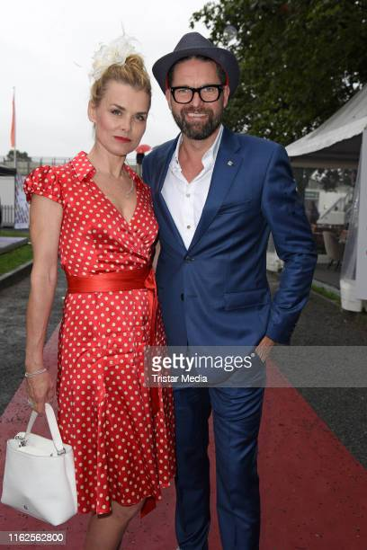 Andrea Luedke and Kai Schwarz attend the Audi Ascot Race Day at Neue Bult horse racing track on August 18 2019 in Langenhagen Germany