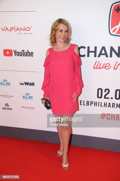 Andrea Luedke attends the Channel Aid concert on July 2 2018 in Hamburg Germany