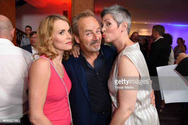 Andrea Luedke Till Demtroeder and Cheryl Shepard attend the Studio Hamburg Nachwuchspreis on June 6 2018 in Hamburg Germany