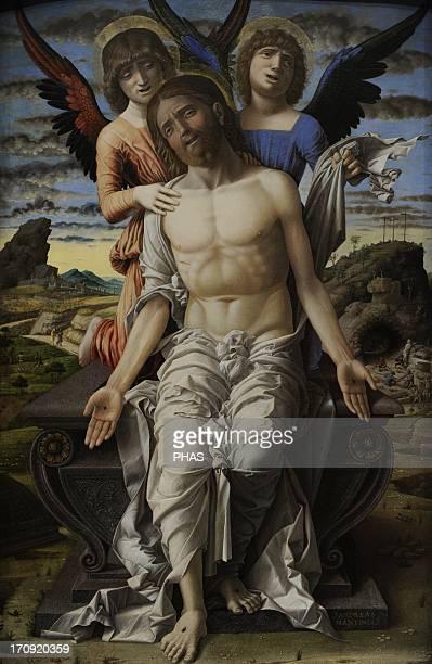 Andrea Mantegna . Italian painter. Christ as the Suffering Redeemer, 1495-1500. National Museum of Art. Copenhagen. Denmark.