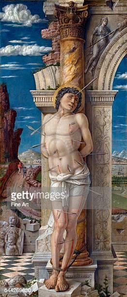 Andrea Mantegna St Sebastian 14579 oil on panel 68 x 30 cm Kunsthistorisches Museum Vienna