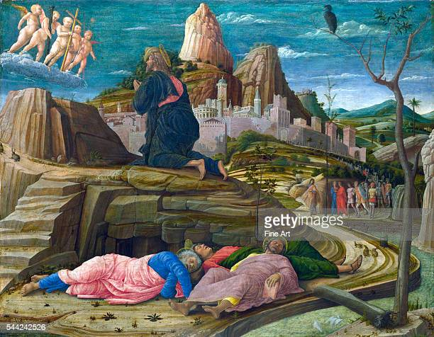Andrea Mantegna The Agony in the Garden c 145860 tempera on wood 629 x 80 cm National Gallery London