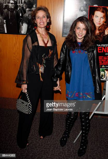 Andrea Marcovicci and guest arrive at the Los Angeles premiere of 'Irene In Time' at the Directors Guild Theatre on June 11 2009 in West Hollywood...