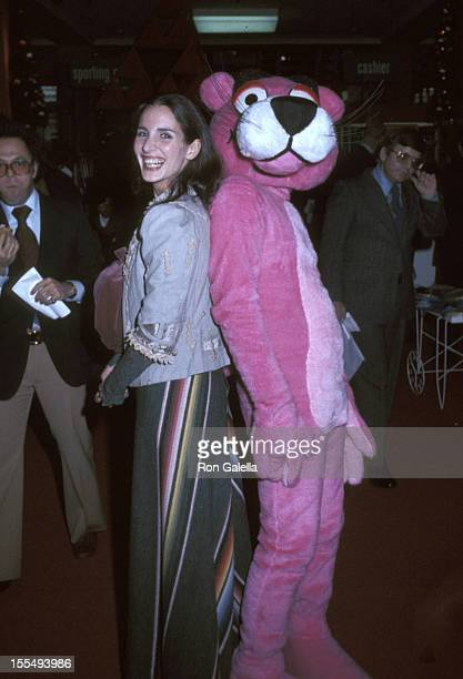 Andrea Marcovicci and The Pink Panther during Andrea Marcovicci File Photos United States