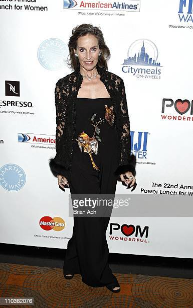 Andrea Marcovicci attends the 22nd Annual CitymealsonWheels Power Lunch for Women at the Rainbow Room on November 21 2008 in New York City