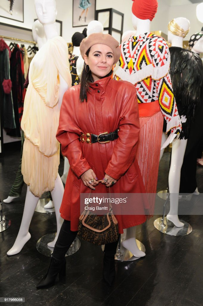 Andrea Maria attends Vintage For The Future: A Norma Kamali Retrospective by What Goes Around Comes Around on February 13, 2018 in New York City.