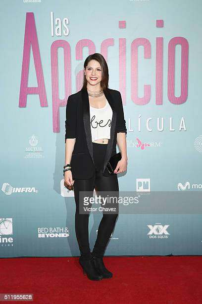 Andrea Marti attends 'Las Aparicio' Mexico City premiere at Cinepolis Plaza Universidad on February 23 2016 in Mexico City Mexico