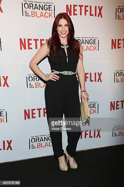 Andrea Marti attends the Orange Is The New Black second season red carpet at Fotomuseo Cuatro Caminos on July 17 2014 in Mexico City Mexico