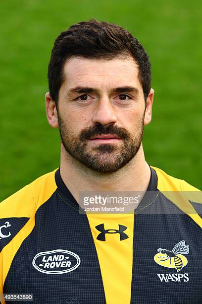 Andrea Masi of Wasps poses for a portrait during a Wasps Media Session at Twyford Avenue Sports Ground on October 20 2015 in Acton England