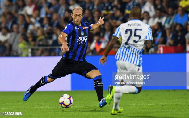 Andrea Masiello of Atalanta BC in action during the serie A match between SPAL and Atalanta BC at Stadio Paolo Mazza on September 17 2018 in Ferrara...