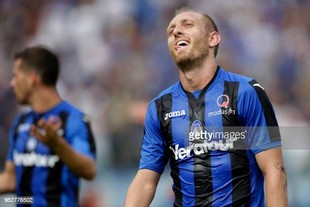 Andrea Masiello of Atalanta during the Italian Serie A match between Atalanta Bergamo v Genoa at the Stadio Atleti Azzurri d Italia on April 29 2018...