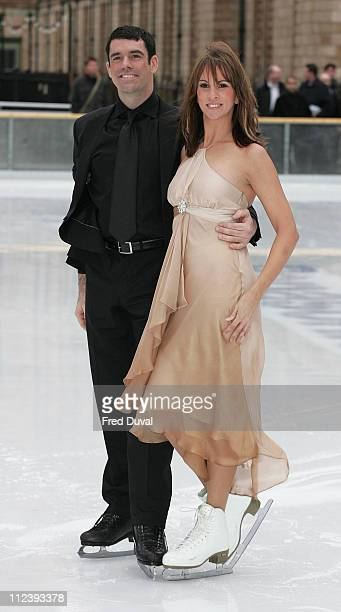 Andrea McLean and Doug Webster during 'Dancing on Ice' TV Press Launch at Natural History Museum in London Great Britain
