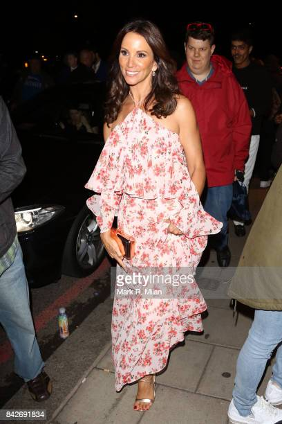 Andrea Mclean attending the TV choice awards on September 4, 2017 in London, England.