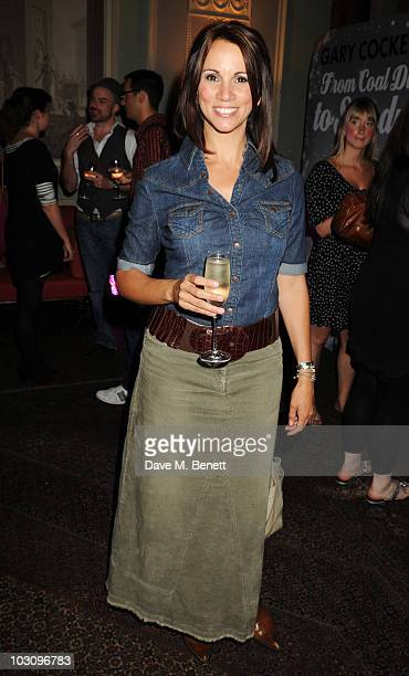 Andrea McLean attends the book launch party for Gary Cockerill's new book 'From Coal Dust To Stardust' at Home House on July 26 2010 in London England