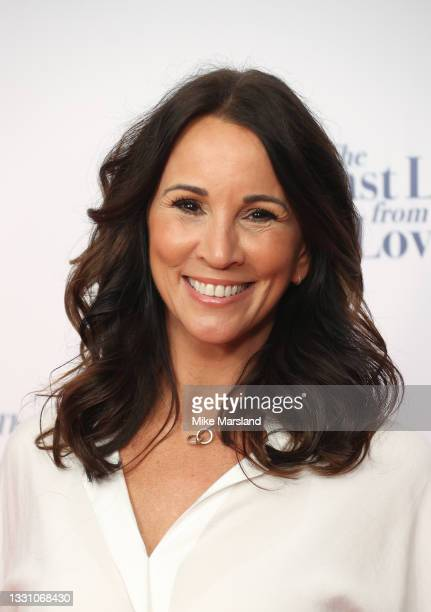 """Andrea McLean attends """"The Last Letter From Your Lover"""" UK premiere at Ham Yard Hotel on July 27, 2021 in London, England."""
