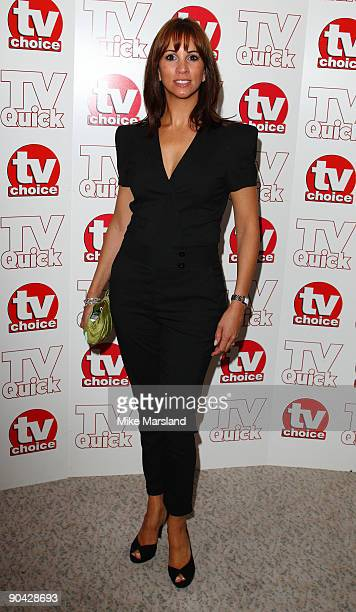 Andrea McLean attends the TV Quick Tv Choice Awards at The Dorchester on September 7 2009 in London England