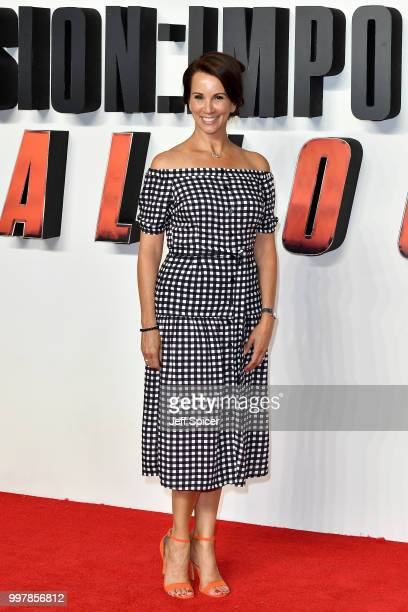 Andrea McLean attends the UK Premiere of 'Mission Impossible Fallout' at BFI IMAX on July 13 2018 in London England
