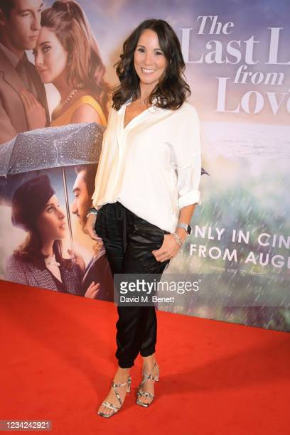 """Andrea McLean attends the UK Premiere of """"The Last Letter From Your Lover"""" at The Ham Yard Hotel on July 27, 2021 in London, England."""