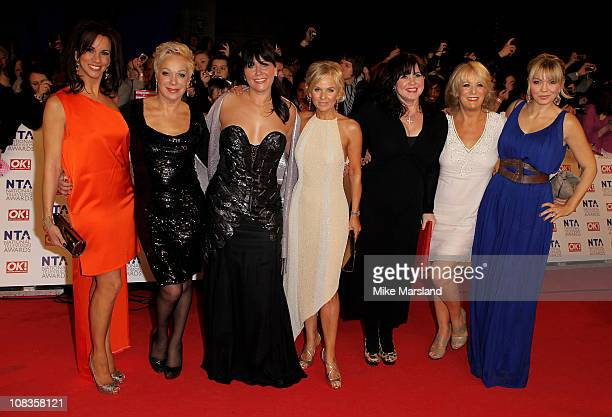 Andrea McLean Denise Welch Zoe Tyler Lisa Maxwell Coleen Nolan Sherrie Hewson and Kate Thornton attend the The National Television Awards at the O2...