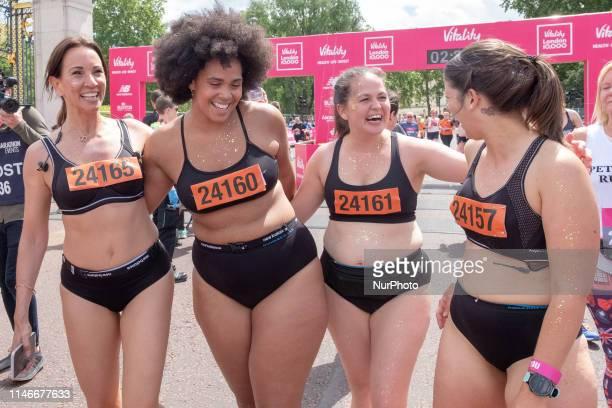 Andrea McLean Shareefa Radford Giovanna Fletcher Anna Harding during the Vitality London 10K in London United Kingdom on May 27 2019