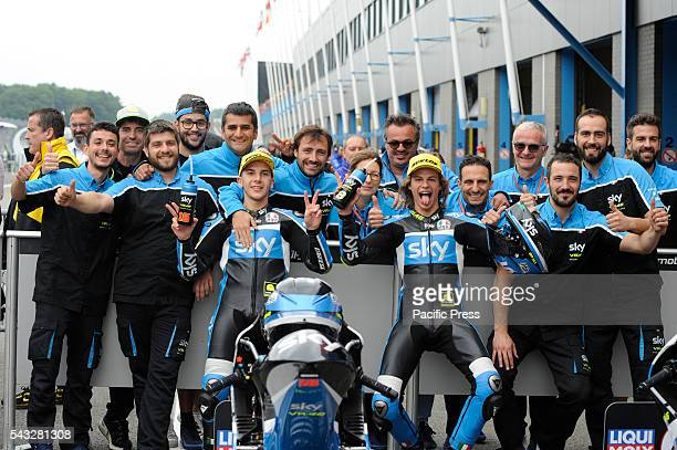 Andrea Migno and Niccolò Bulega during the qualifying sessions in Assen