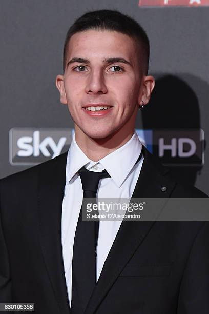 Andrea Migno attends 'X Factor X' Tv Show Red Carpet on December 15 2016 in Milan Italy