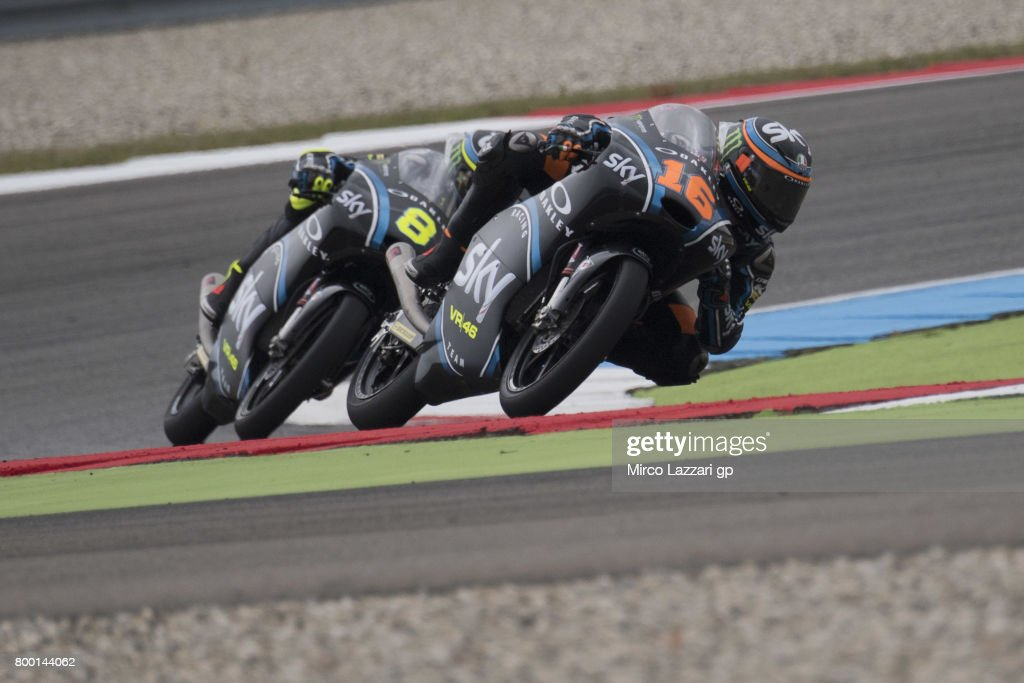 Andrea Migno of Italy and Sky Racing Team VR46 leads the field during the MotoGP Netherlands - Free Practice on June 23, 2017 in Assen, Netherlands.