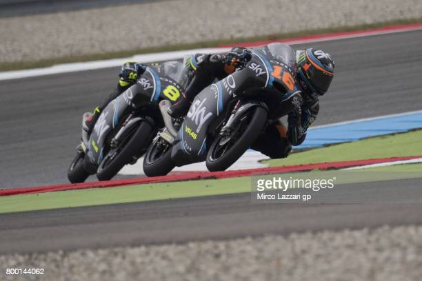Andrea Migno of Italy and Sky Racing Team VR46 leads the field during the MotoGP Netherlands Free Practice on June 23 2017 in Assen Netherlands