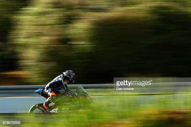Andrea Migno of Italy and SKY Racing Team VR46 rides during final practice for the MotoGP of Spain at Circuito de Jerez on May 6 2017 in Jerez de la...