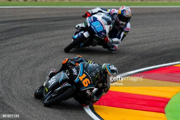 Andrea Migno Sky Racing Team Vr46 Ktm in the free practice of the Gran Premio Movistar de Aragon Circuit of Motorland Alcañiz Spain Friday 22nd...