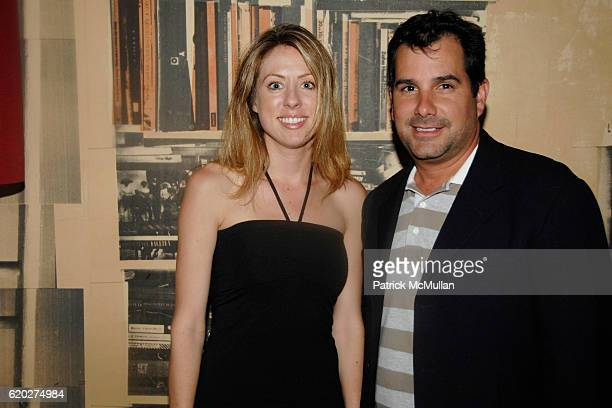 Andrea Miller and Charles Regensburg attend SOCIAL LIFE Magazine Cover Party Sponsored by SARAR and PERONI at Soho House Library on April 24 2008 in...