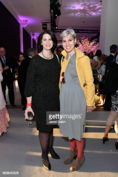 Andrea Miller and Katharine Bodde attend Planned Parenthood Of New York City Spring Gala Honoring Cecile Richards And Laverne Cox at Spring Studios...