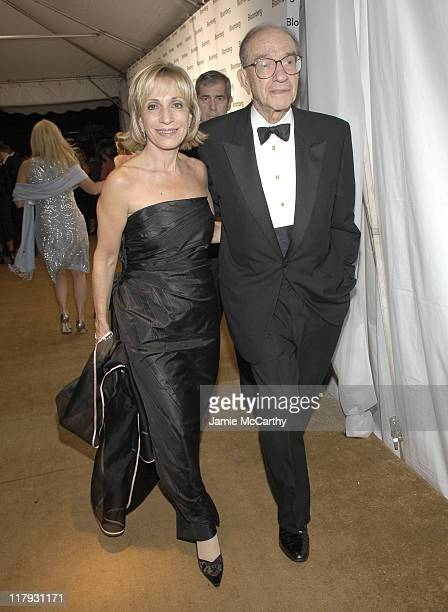 Andrea Mitchell and Alan Greenspan during Bloomberg After Party at Private Residence in Washington District of Columbia United States