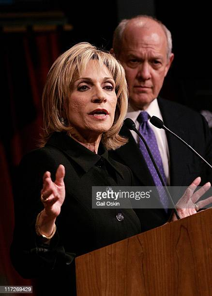 Andrea Mitchell Chief Foreign Affairs Correspondent for NBC News speaks at the Joan Shorenstein Center on the Press Politics and Public Policy at the...