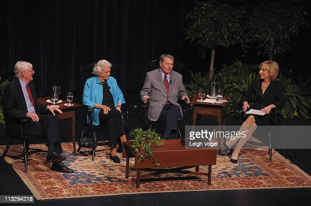 Andrea Mitchell moderates a conversation with Gordon Wood Sandra Day O'Connor and Jim Lehrer the recipients of the Colonial Williamsburg Foundation's...