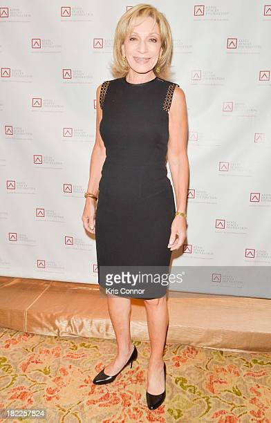 Andrea Mitchell poses on the red carpet during the Kevin Spacey Foundation Washington Gala Dinner at Mandarin Oriental Hotel on September 28 2013 in...