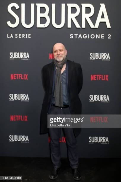 Andrea Molaioli attends the after party for Netflix Suburra The Series season 2 launch at Circolo Degli Illuminati on February 20 2019 in Rome Italy