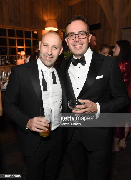 Andrea Molteni and Achim Berg attend the gala dinner in honour of Edward Enninful winner of the Global VOICES Award 2019 during #BoFVOICES on...