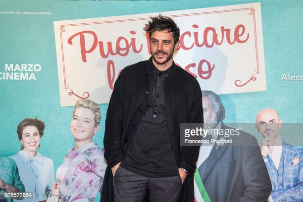 Andrea Montovoli attends a photocall for 'Puoi Baciare Lo Sposo' on February 28 2018 in Milan Italy