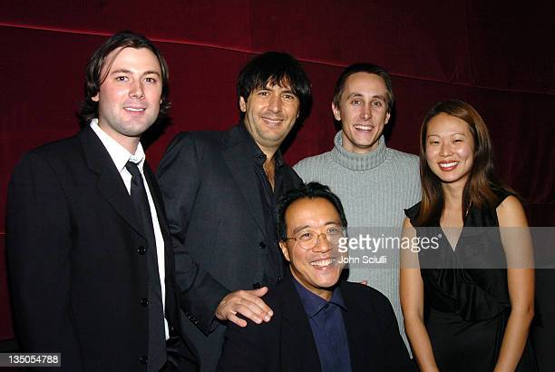 Andrea Morricone and YoYo Ma with Students at USC's School Of CinemaTelevision at a reception after a concert with YoYo Ma featuring the film music...