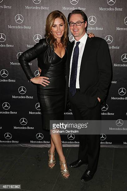 Andrea Moss and Chris Moss arrive at The Fashion World of Jean Paul Gaultier Exclusive Preview at NGV International on October 14 2014 in Melbourne...