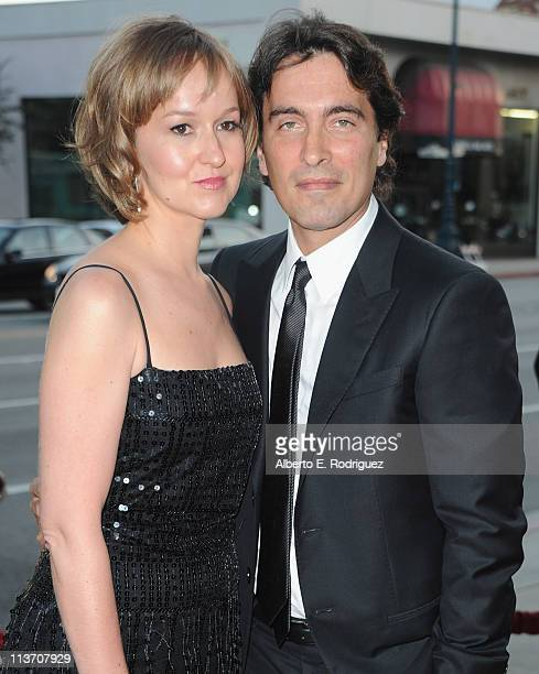 Andrea Mészáros and composer Carlo Ponti arrive to The Academy of Motion Picture Arts and Sciences' tribute to Sophia Loren on May 4 2011 in...