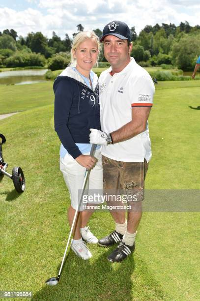 Andrea Muehlbauer and her husband Falk Raudies during the 7 M M EAGLES Charity LEDERHOS'N Golf Cup 2018 at Golfclub Castle EGMATING on June 22 2018...
