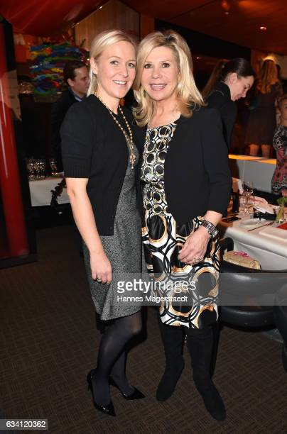 Andrea Muehlbauer and Marianne Hartl during the 'DKMS Life Charity Ladies Lunch' at Tantris Restaurant on February 7 2017 in Munich Germany