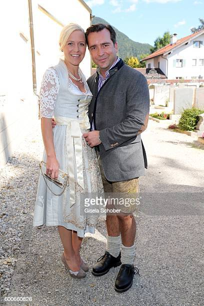 Andrea Muehlbauer former Arland and her boyfriend Falk Raudies during the wedding of Marianne and Michael Hartl at St Laurentius church on September...